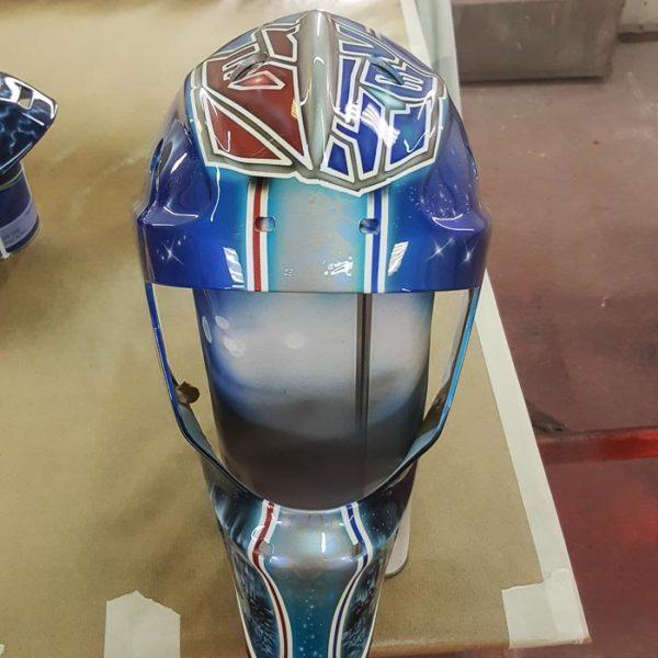 Хоккейный шлем аэрография Трансформеры