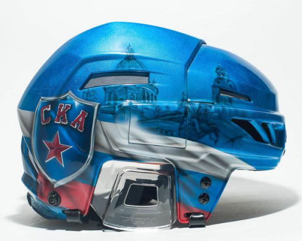 Хоккейный шлем аэрография СКА СПб
