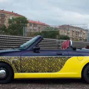 Aerografiya na avto i eksklyuzivnaya pokraska Daihatsu Copen