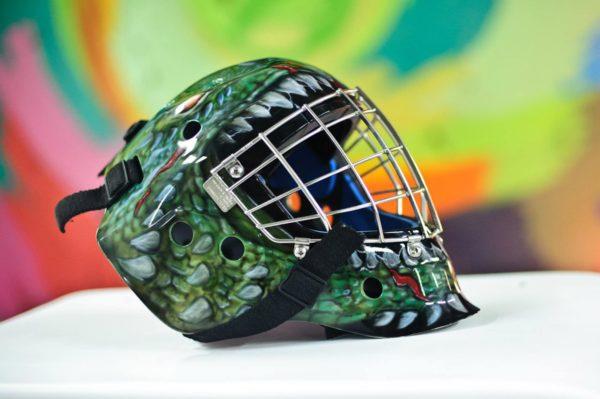 Аэрография на хоккейном шлеме - Дракон