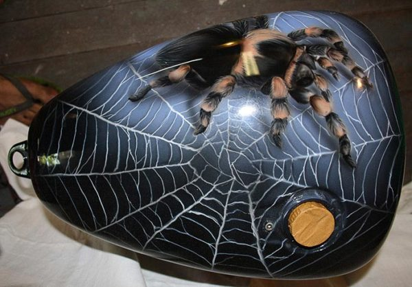 Расписанный кофр аэрография «паук»