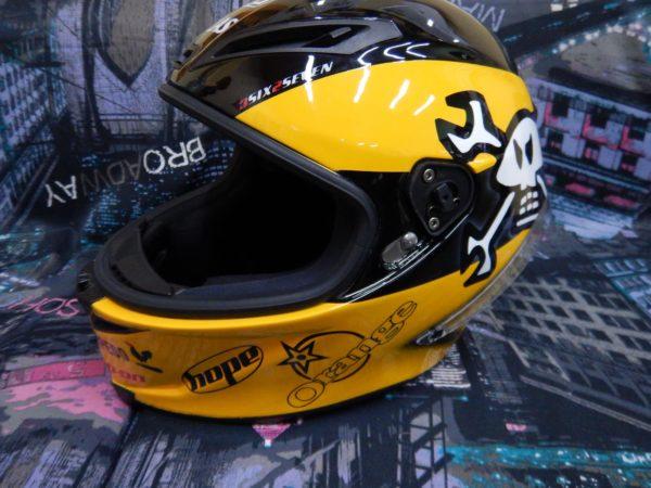 Аэрография на шлеме - Orange AGV RedTorpedo