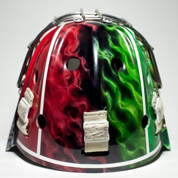 Аэрография на шлеме барс