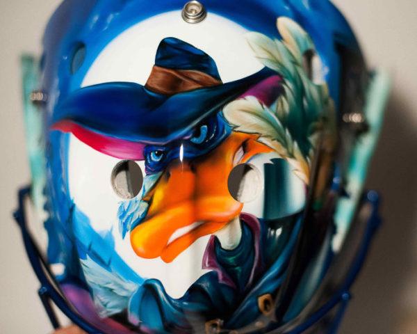 Хоккейный шлем аэрография Рокки бальбоа, Черный плащ, Вратарь.Хоккейный шлем аэрография Рокки бальбоа, Черный плащ, Вратарь.