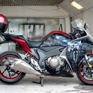 Аэрография кофр+мотоцикл «монашка»