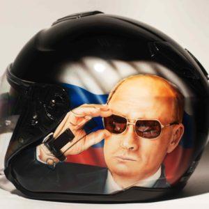 аэрография на шлеме путин-2